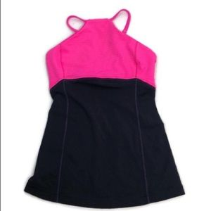 Lululemon Pink and Navy Halter Style Yoga Tank Top